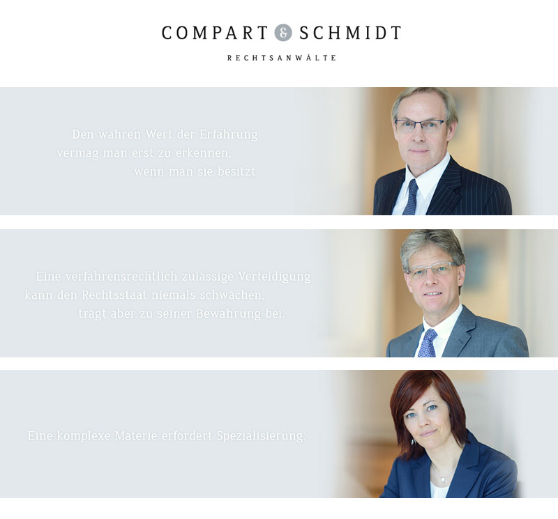 Corporatefotografie Kanzlei Compart Schmidt